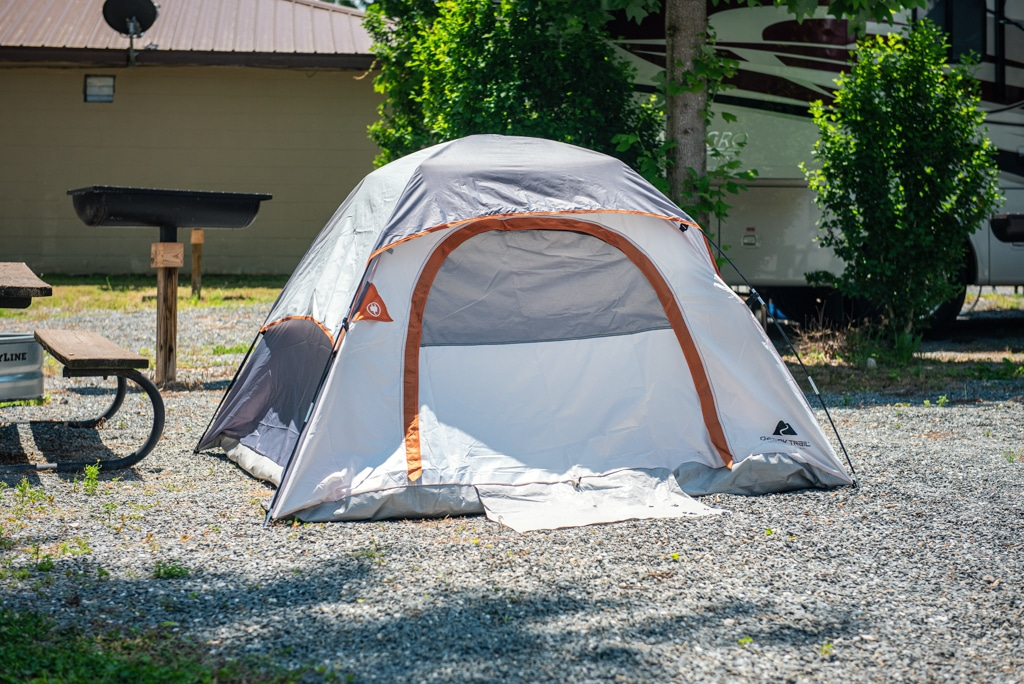 Campsites at Ela Campground located in Bryson City, NC